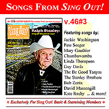 CD art for Sing Out! V.46#3: Ralph Stanley, Margaret MacArthur, Jackie Washington, The Be Good Tanyas, Lo'Jo, David Massengill, Kate Rusby and Mary Gauthier