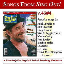CD art for Sing Out! V.46#4: Greg Brown, Francis James Child, Bob Brozman, Kim & Reggie Harris, Jez Lowe, Czokolom