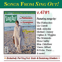 CD art for Sing Out! V.47#1: The Flatlanders, Liz Carroll, Music of the Imazighen, Vance Gilbert, The Mammals, Tama