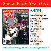 CD art for Sing Out! V.47#4: Sister Rosetta Tharpe, Tim O'Brien, Dan Zanes, Phonix, Jim Page, Le Vent du Nord & The Midnight Special