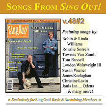 CD art for Sing Out! V.48#2: Robin & Linda Williams, Rosalie Sorrels, Townes Van Zandt The Discovery String Band, Ellika & Solo, and Haugaard & Hoirup