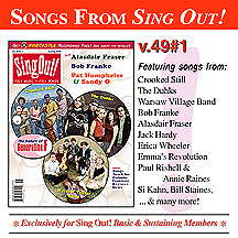 CD art for Sing Out! V.49#1: Crooked Still, Warsaw Village Band, The Duhks, Alasdair Fraser, Bob Franke, Pat Humphries & Sandy O