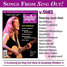 CD art for Sing Out! V.50#2: Dar Williams, Gordon Lightfoot, Debashish Bhattacharya, Mauno Jarvela, WV Music Hall of Fame, John Tams, David Holt, Lunasa, Dion