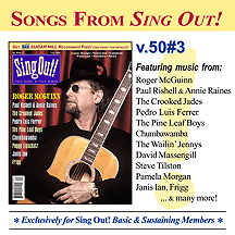 CD art for Sing Out! V.50#3: Roger McGuinn, Paul Rishell and Annie Raines, Pedro Luis Ferrer, The Crooked Jades, Janis Ian, Frigg, Chumbawamba, The Pine Leaf Boys, Peggy Lipschutz