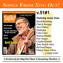 CD art for Sing Out! V.51#1: David Bromberg, Earl Scruggs, Jola Akonting, Catie Curtis, Odetta, Niyaz, Väsen, Alasdair Roberts, Madrigaia