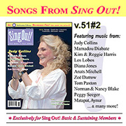 CD art for Sing Out! V.51#2: Judy Collins, Los Lobos, Diana Jones, Matapat, Mamadou Diabate, Kim & Reggie Harris, Anais Mitchell, Zoe Darrow, Aynur