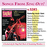 CD art for Sing Out! V.52#3: Desert Blues, Danny Kalb, Punch Brothers, Magpie, Boiled in Lead, The Center for Traditional Music & Dance, Denice Franke, Saba and William Jackson