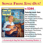 CD art for Sing Out! V.52#4: Billy Edd Wheeler, The Tannahill Weavers, Nimrod Workman, Red Molly, Miroslav and Gordana Evacic, & Mette Kathrine