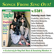CD art for Sing Out! V.53#1: Feufollet, Danny Schmidt, Bassekou Kouyate & Ngoni Ba, Jolie Holland, Pete Seeger, & Julie Fowlis