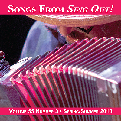CD art for Sing Out! V.55#3: Yves Lambert Trio, Larry Penn, Kari Tauring, Lauren Sheehan, Spiro, Dubl Handi, Anna & Elizabeth, and Carrie Rodriguez