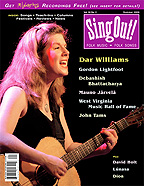 Sing Out! V.50#2: Dar Williams, Gordon Lightfoot, Debashish Bhattacharya, Mauno Jarvela, WV Music Hall of Fame, John Tams, David Holt, Lunasa, Dion